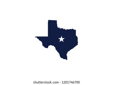 Texas outline map state shape usa state america symbol