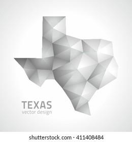 Texas polygonal vector map