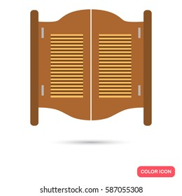 Texas salloon door color flat icon for web and mobile design