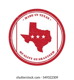 Texas Stamp Badge Tag In Vintage Style Illustration Vector Isolated