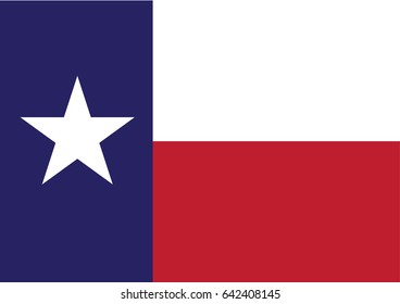 Texas State Flag or Flag of Texas or Texas flag in official colors and proportion correctly or Image National Texas flag or Vector design illustration EPS10