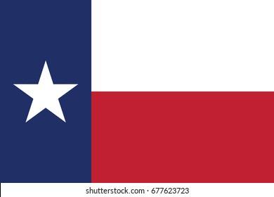 Texas State Flag. Vector.