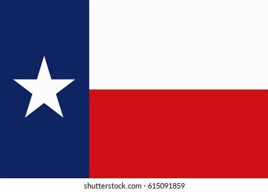 Texas State Flag. Vector illustration.