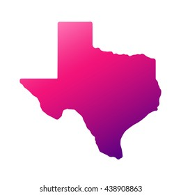 Texas state map with gradient