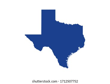 Texas State Map. Vector Design illustration