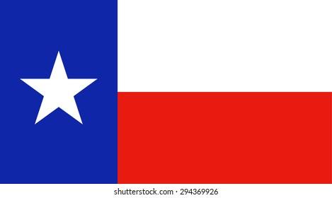 Texas state national flag. Vector EPS8