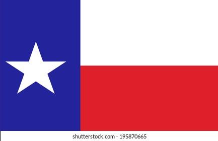 Texas state vector flag.