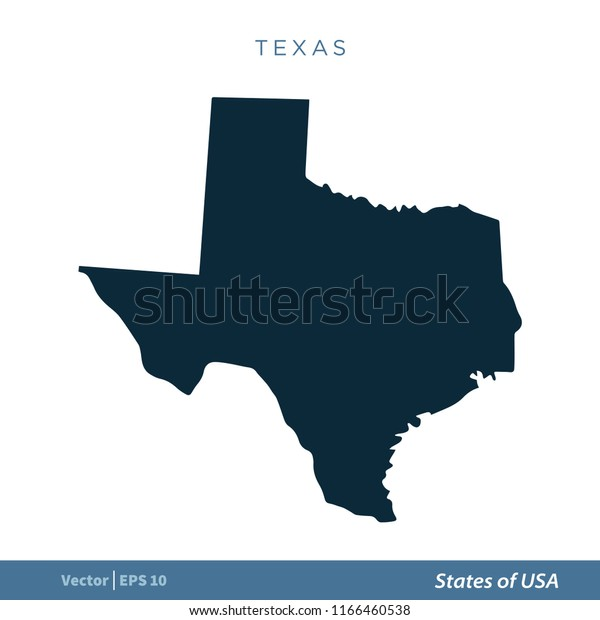 Texas States Us Map Icon Vector Stock Vector (Royalty Free