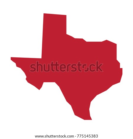 Texas Vector Map Silhouette State Texas Stock Vector (Royalty Free ...