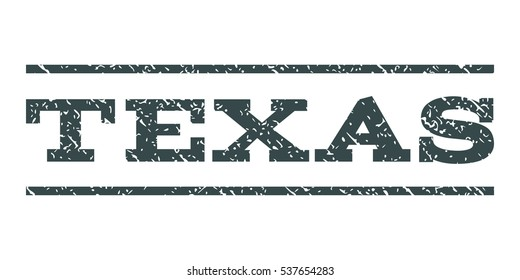 Texas watermark stamp. Text caption between horizontal parallel lines with grunge design style. Rubber seal stamp with unclean texture. Vector soft blue color ink imprint on a white background.