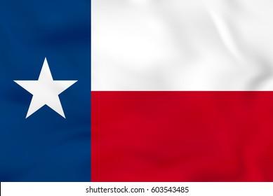 Texas waving flag. Texas state flag background texture.Vector illustration.