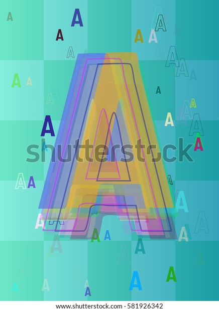 text Alphabet A idea art