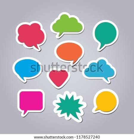 text balloons different shapes text bubbles stock vector royalty