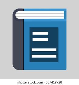 text book icon vector art eps image logo sign flat design app