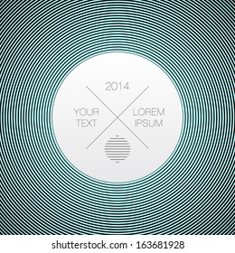 Text box design with circles pattern background Eps 10 vector illustration