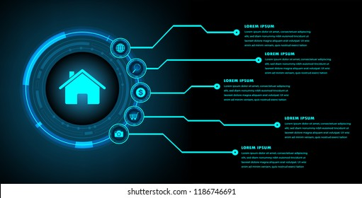 text box, internet of things cyber technology, home