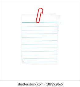 text box with paper clip vector illustration