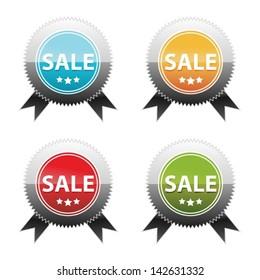 Text Box Templates Sale. Web elements. Vector sticker. Label