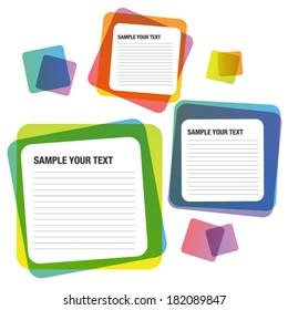 Text Bubble Vector Square