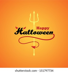 Text composition on halloween theme in vector
