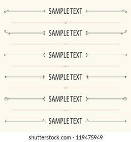 Text dividers and separators (set 1)
