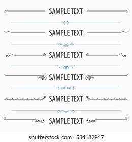 Text dividers and separators (set 2)