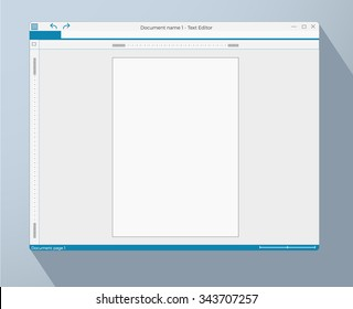 text editor empty page template