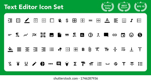 Text editor icon set. Get these awesome material icon set.