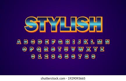 text effect stylish font alphabet