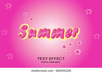 Text Effect Summer is a test effect that is very suitable for use as material for spring posters or as part of flyer images