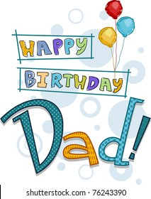 Text Featuring Birthday Greetings For Dad