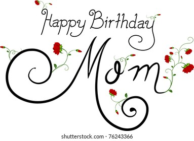 Text Featuring the Words Happy Birthday Mom