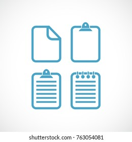 Text file document vector pictogram set illustration isolated on white background