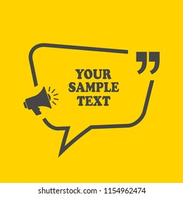 Text frame design vector illustration isolated on yellow background