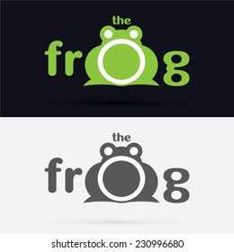 Text the frog, graphic ,vector