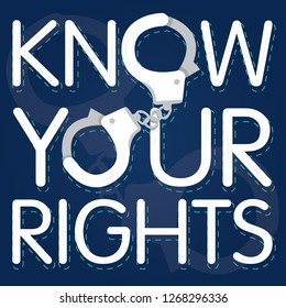 text Know Your Rights vector illustration