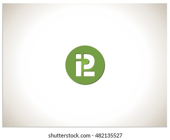 Text logo which consists of abbreviations I, P and L, placed in a circle. Isolated sign symbol of PL and I.