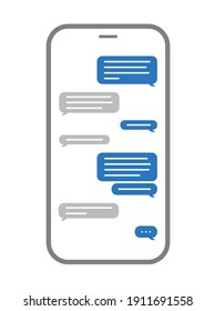 A text message conversation in a smart phone