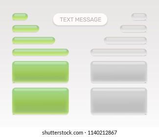 Text message set mobile chat. Vector illustration