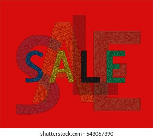 Text with ornament. SALE.
