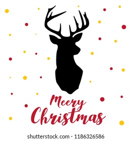 text polka profit red gold raindeer merry christmas baby girl illustration art vector