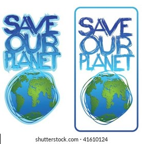 text save our planet