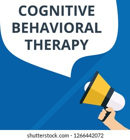 Text sign showing Cognitive Behavioral Therapy. Vector illustration