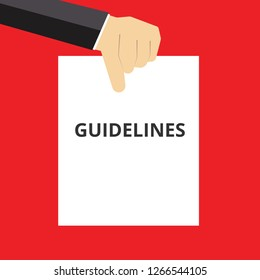 Text sign showing Guidelines. Vector illustration