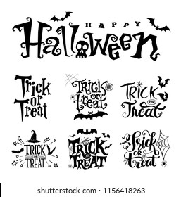 Text trick or treat and Halloween for Halloween day poster advertising. Vector illustration
