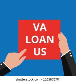 text Va Loan U.S Vector illustration