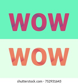 text wow with gradient