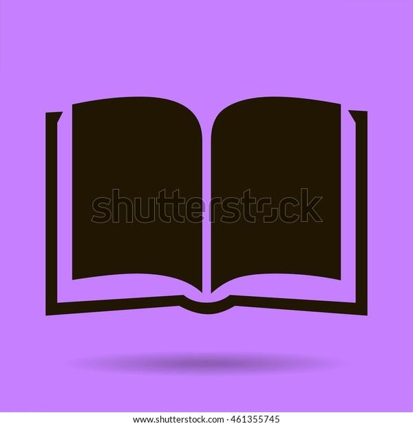 textbook vector icon