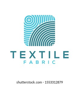 Textile fabric modern simple logo design