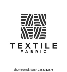 Textile fabric yarn reel tailor business logo identity, fashion designer simple minimalist silhouette icon